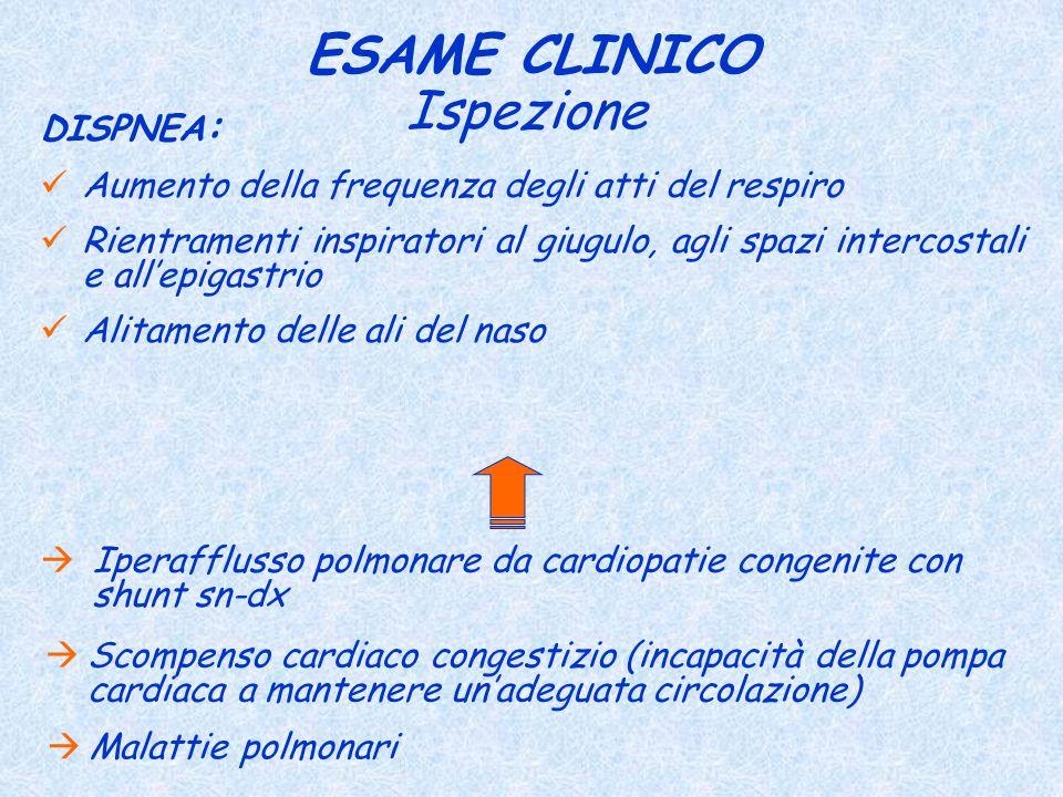 ESAME CLINICO Ispezione DISPNEA: