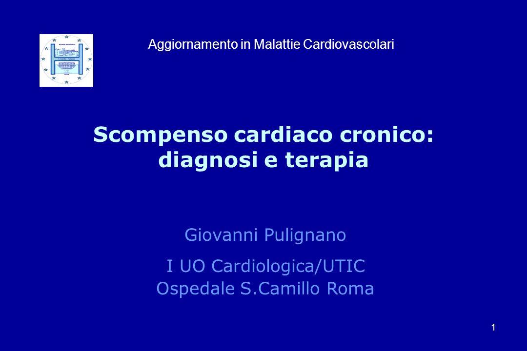 Scompenso cardiaco cronico: diagnosi e terapia