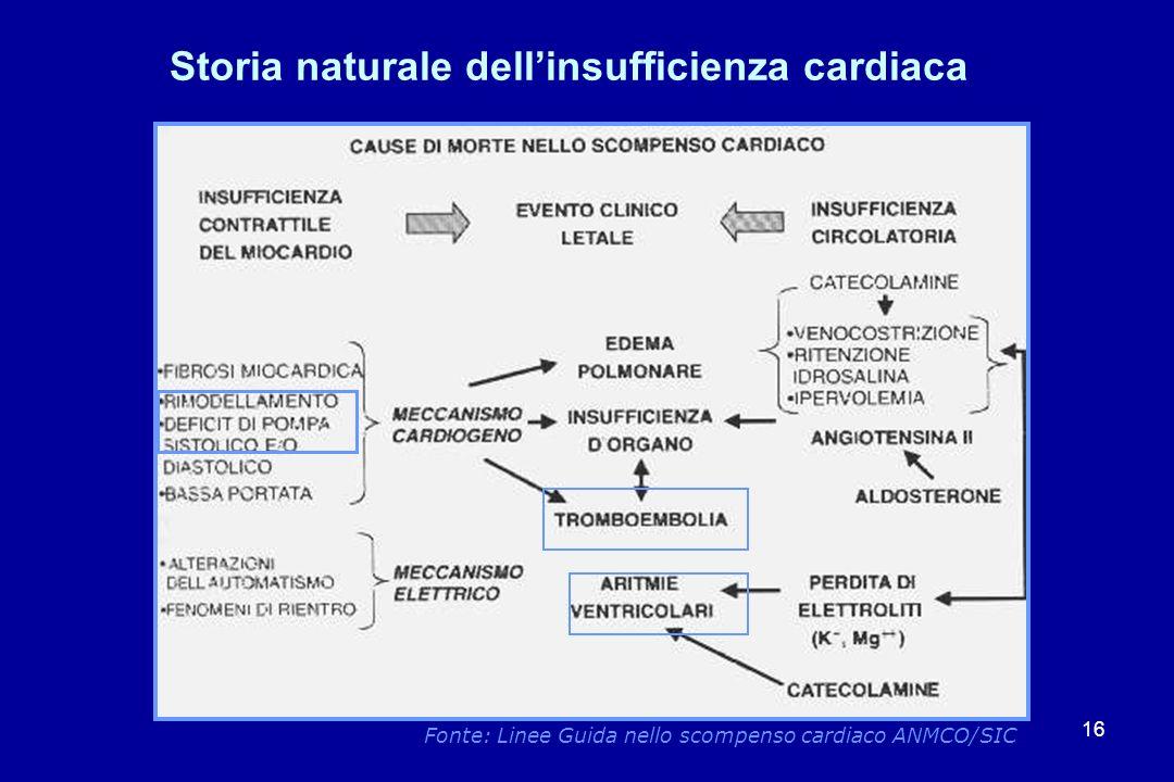 Storia naturale dell'insufficienza cardiaca