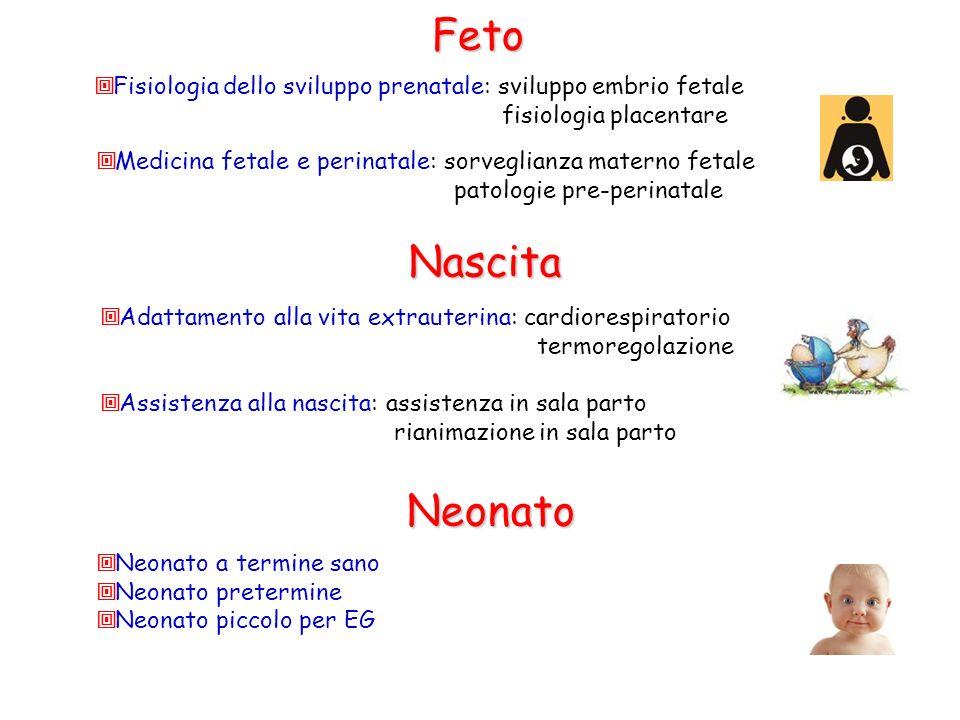 Feto Fisiologia dello sviluppo prenatale: sviluppo embrio fetale. fisiologia placentare. Medicina fetale e perinatale: sorveglianza materno fetale.