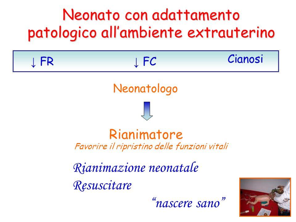 Neonato con adattamento patologico all'ambiente extrauterino