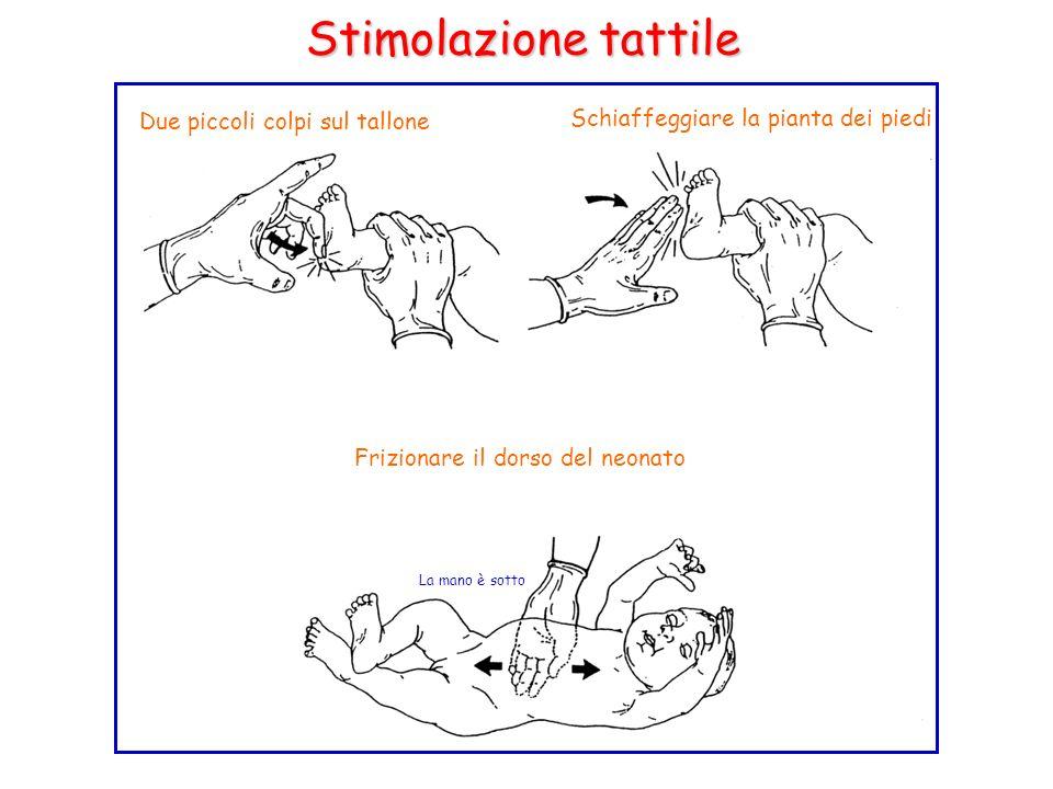 Stimolazione tattile Due piccoli colpi sul tallone
