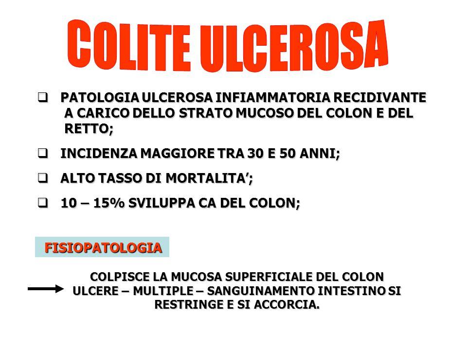 COLPISCE LA MUCOSA SUPERFICIALE DEL COLON