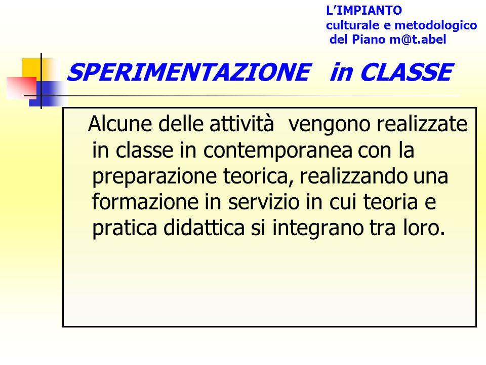 SPERIMENTAZIONE in CLASSE