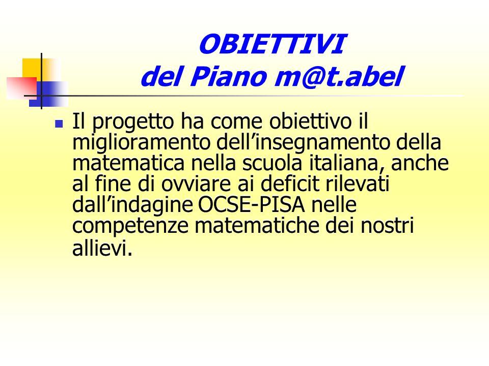 OBIETTIVI del Piano m@t.abel