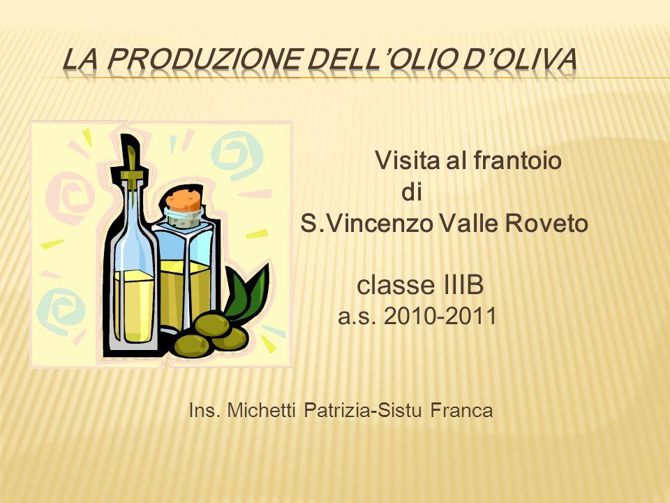 La produzione dell'olio d'oliva