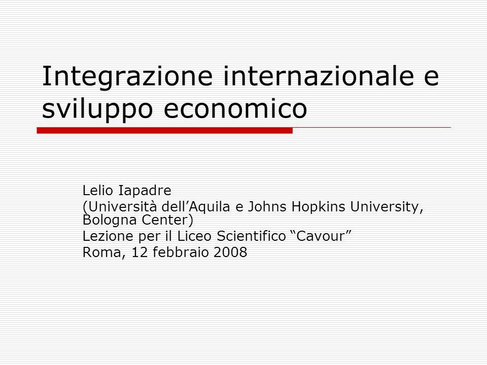 Integrazione internazionale e sviluppo economico