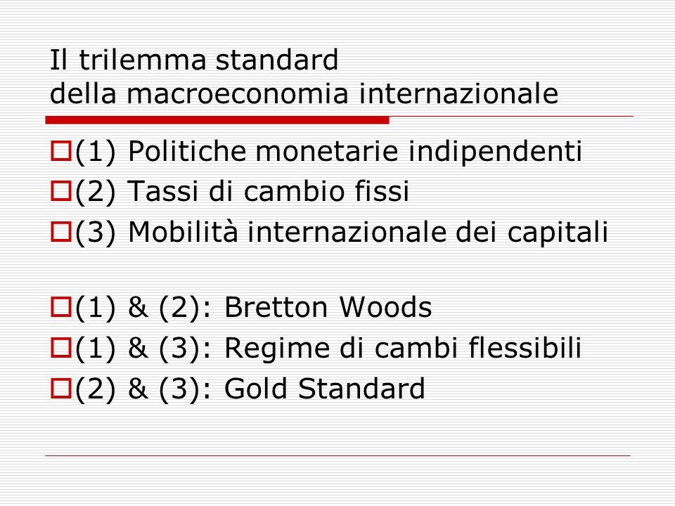 Il trilemma standard della macroeconomia internazionale