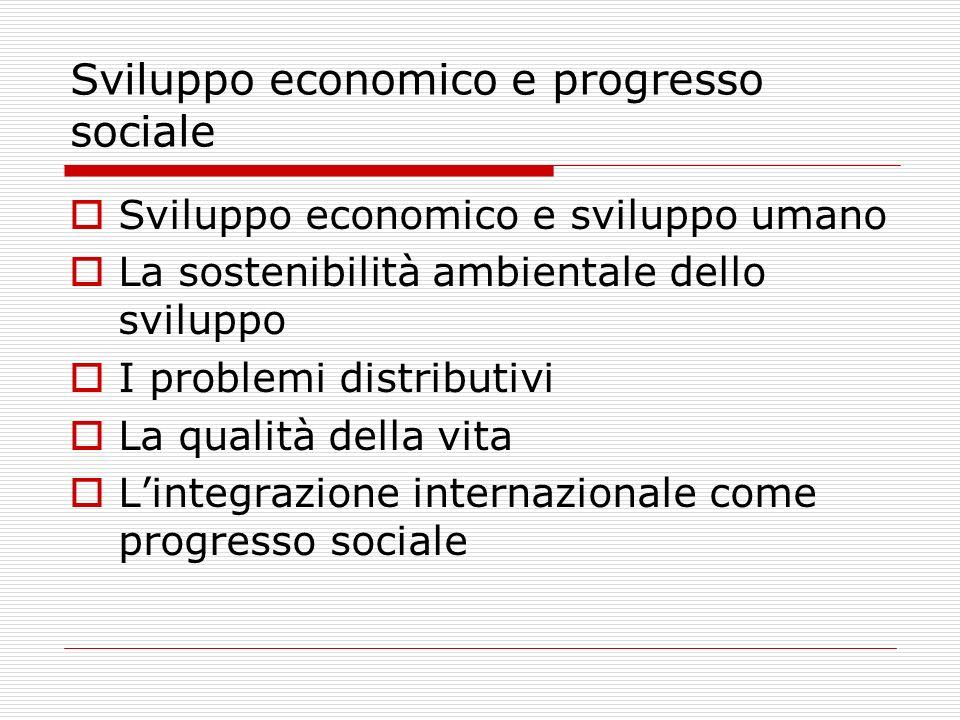 Sviluppo economico e progresso sociale