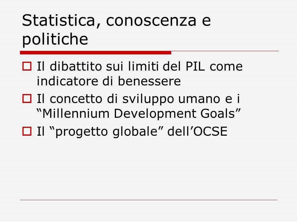 Statistica, conoscenza e politiche