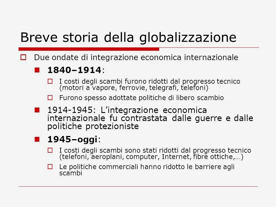 Breve storia della globalizzazione