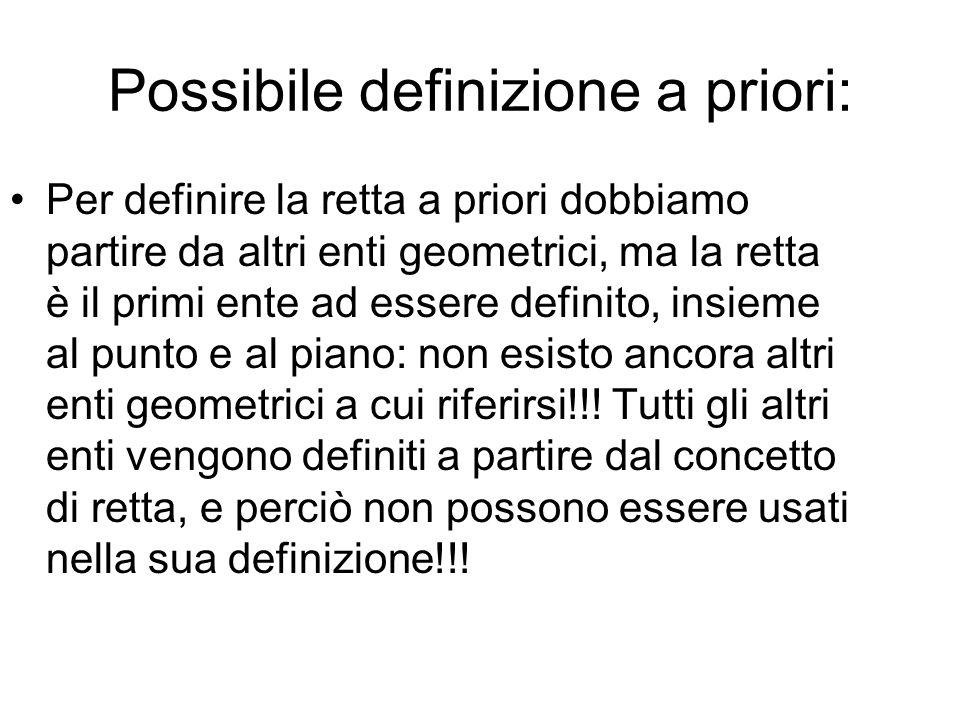 Possibile definizione a priori: