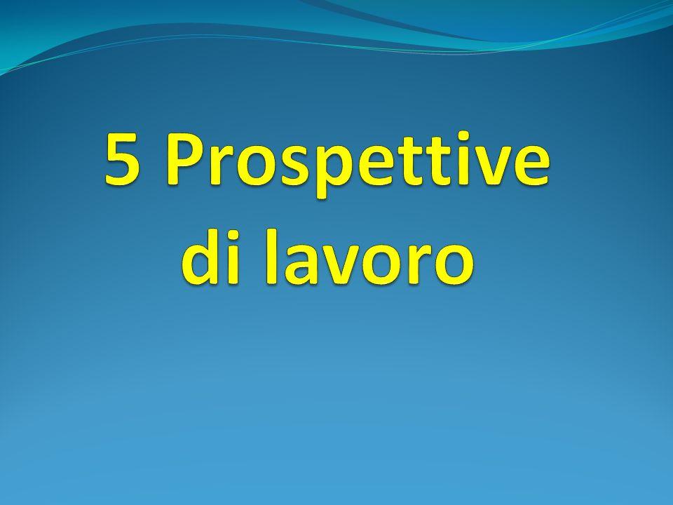 5 Prospettive di lavoro