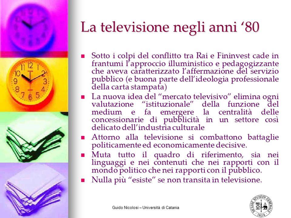 La televisione negli anni '80