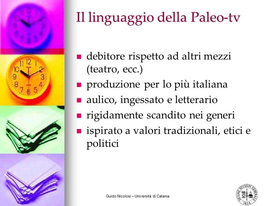 Il linguaggio della Paleo-tv