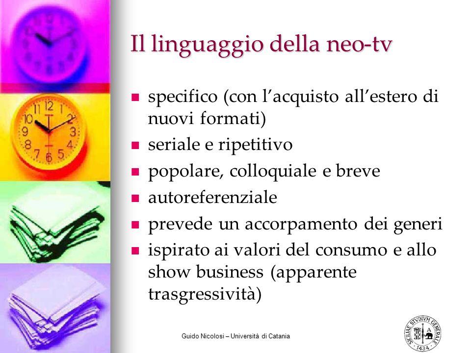 Il linguaggio della neo-tv