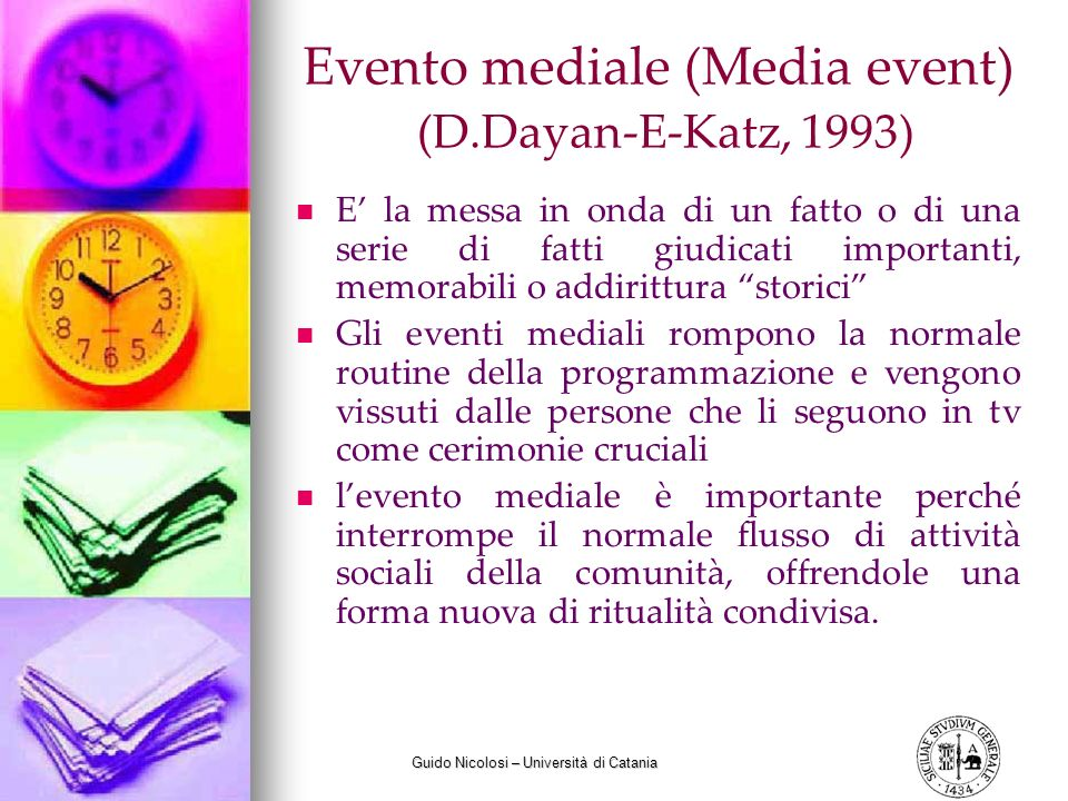 Evento mediale (Media event) (D.Dayan-E-Katz, 1993)