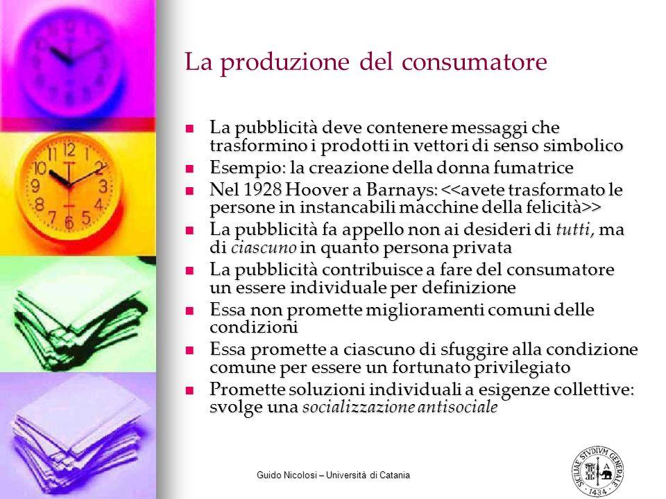 La produzione del consumatore