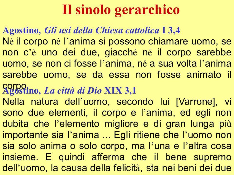 Il sinolo gerarchico Agostino, Gli usi della Chiesa cattolica I 3,4