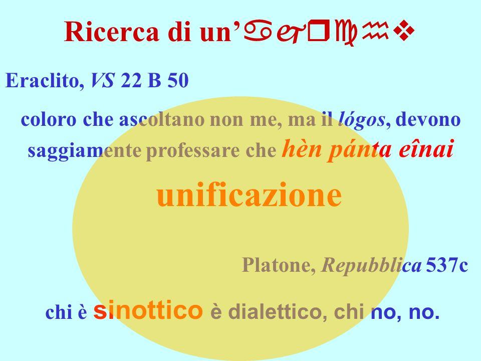 chi è sinottico è dialettico, chi no, no.