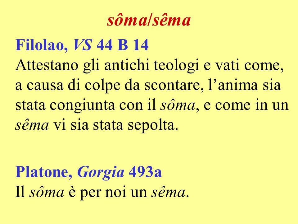 sôma/sêma Filolao, VS 44 B 14.