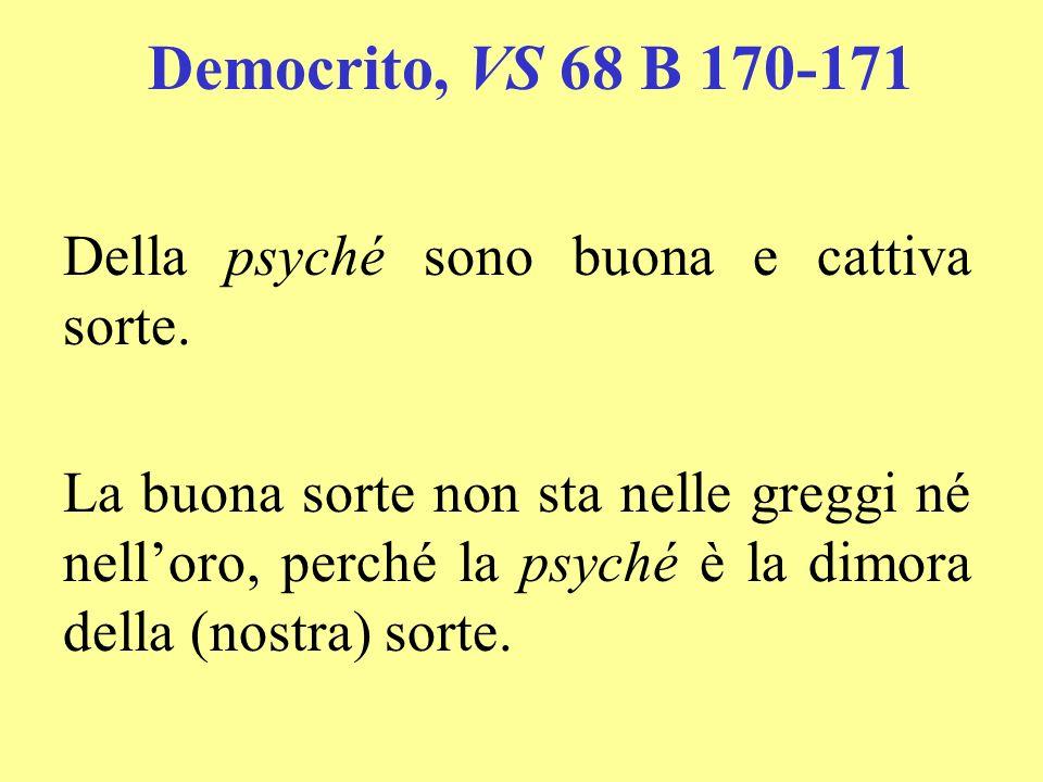 Democrito, VS 68 B 170-171