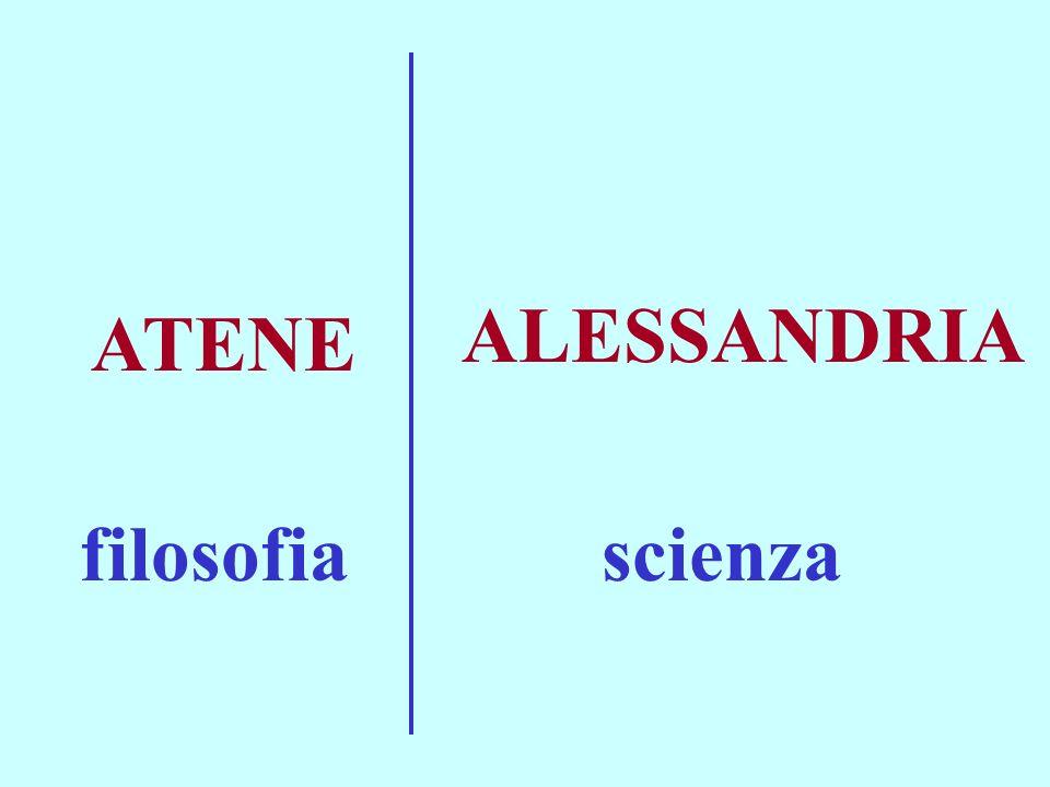 ALESSANDRIA ATENE filosofia scienza