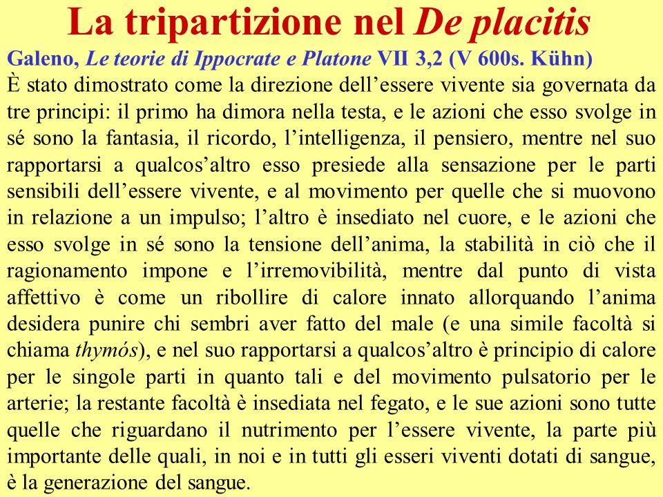 La tripartizione nel De placitis