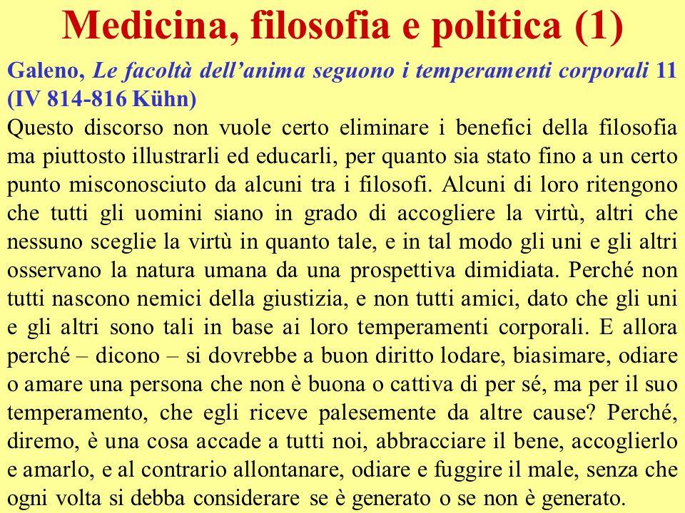 Medicina, filosofia e politica (1)