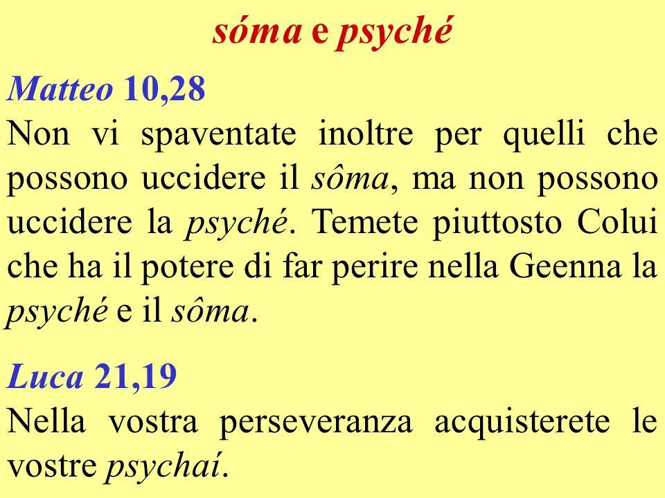 sóma e psyché Matteo 10,28.