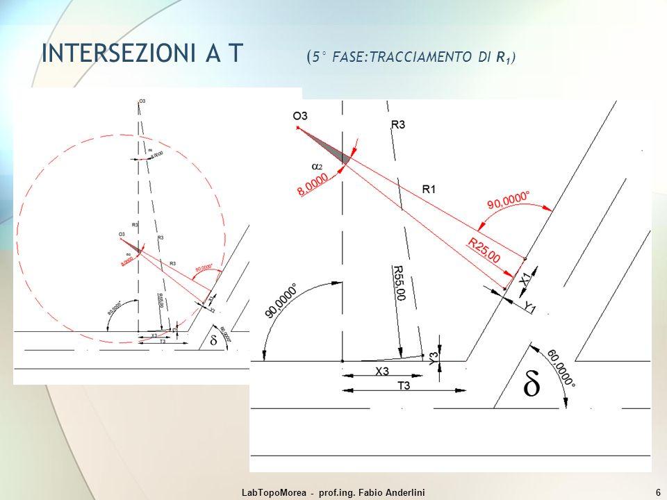 INTERSEZIONI A T (5° FASE:TRACCIAMENTO DI R1)