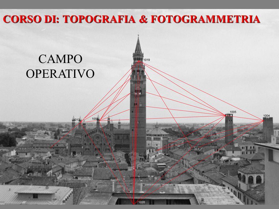 CORSO DI: TOPOGRAFIA & FOTOGRAMMETRIA