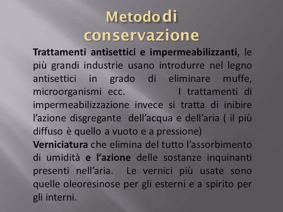 Metodo di conservazione