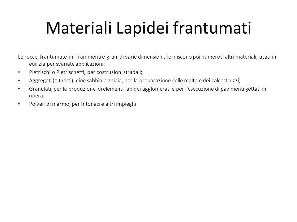 Materiali Lapidei frantumati