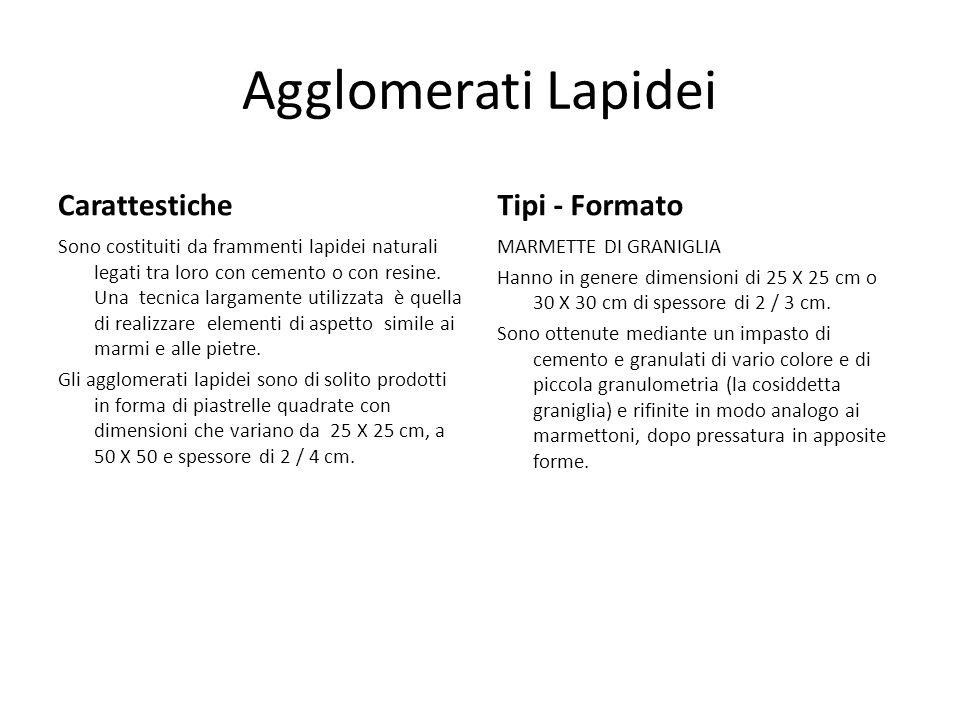 Agglomerati Lapidei Carattestiche Tipi - Formato