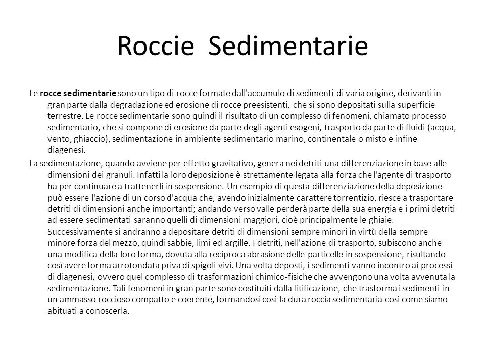 Roccie Sedimentarie