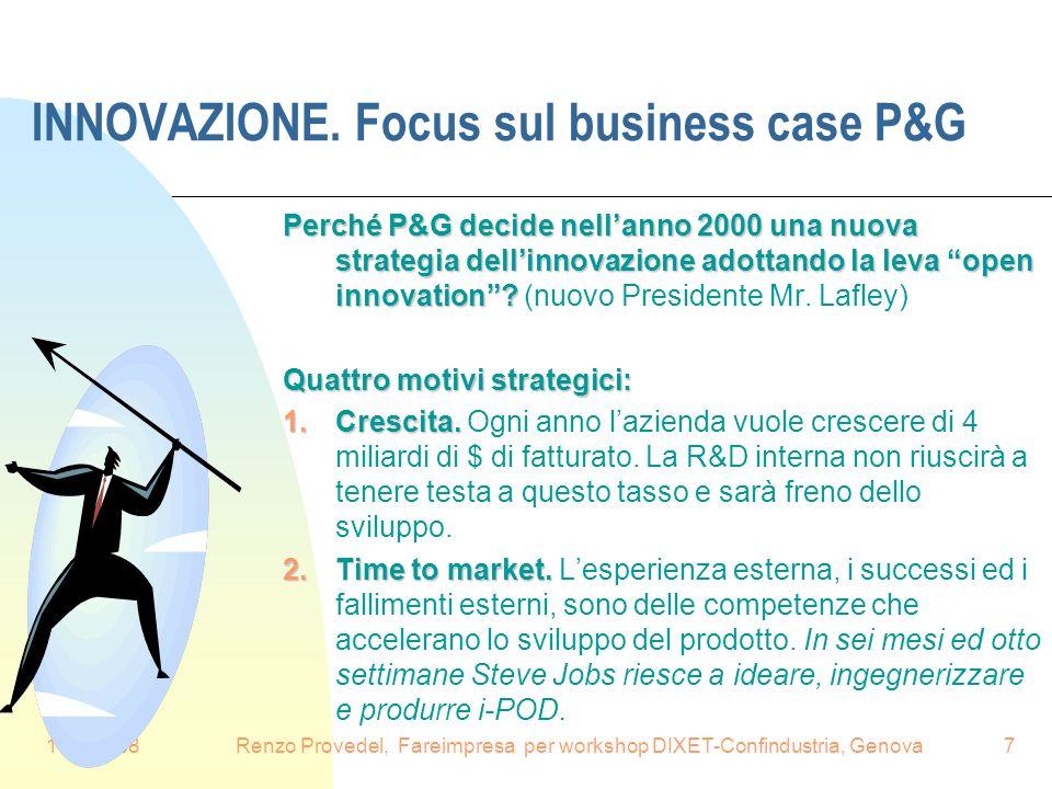 INNOVAZIONE. Focus sul business case P&G