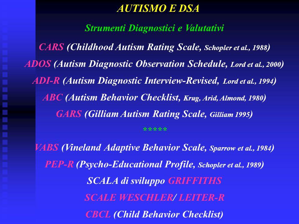 AUTISMO E DSA Strumenti Diagnostici e Valutativi