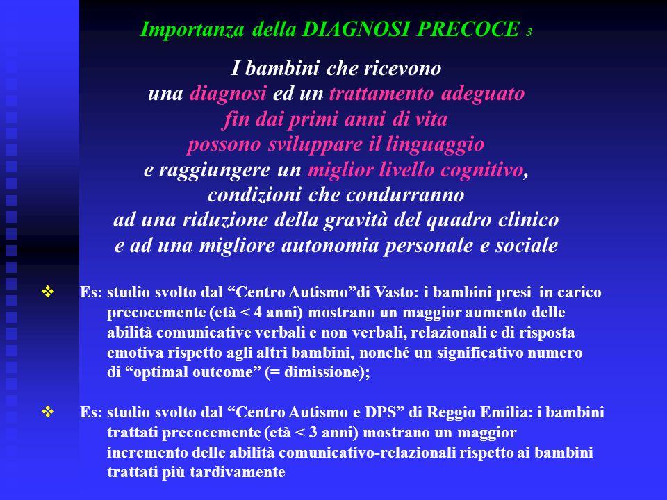 Importanza della DIAGNOSI PRECOCE 3