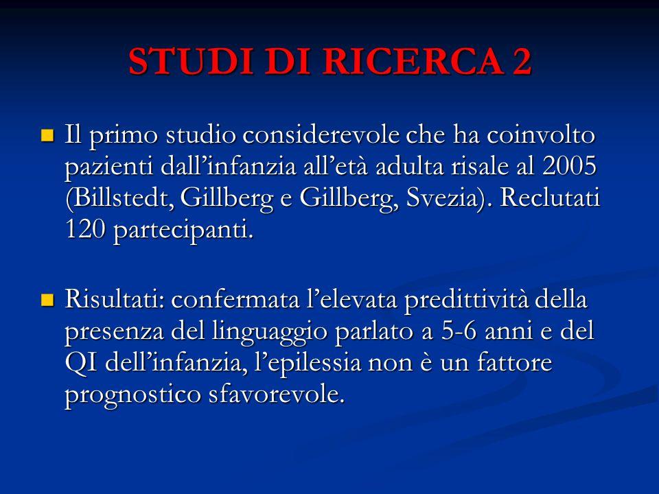 STUDI DI RICERCA 2