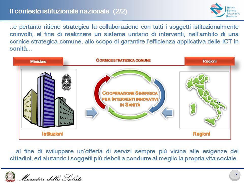 La cornice strategica delle iniziative eHealth sul territorio