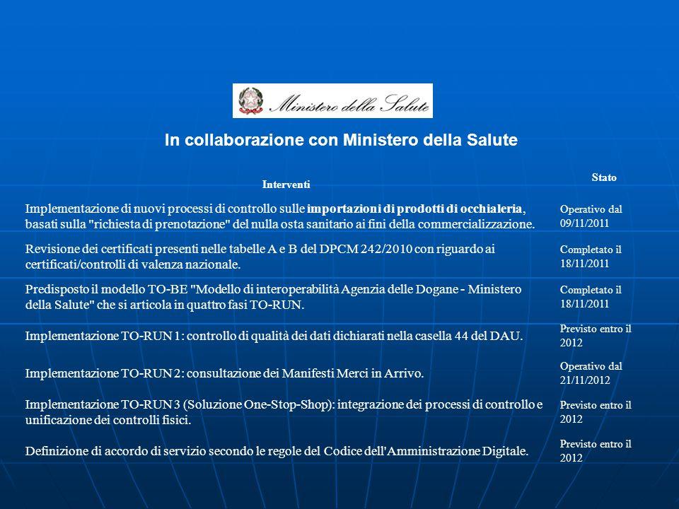 In collaborazione con Ministero della Salute