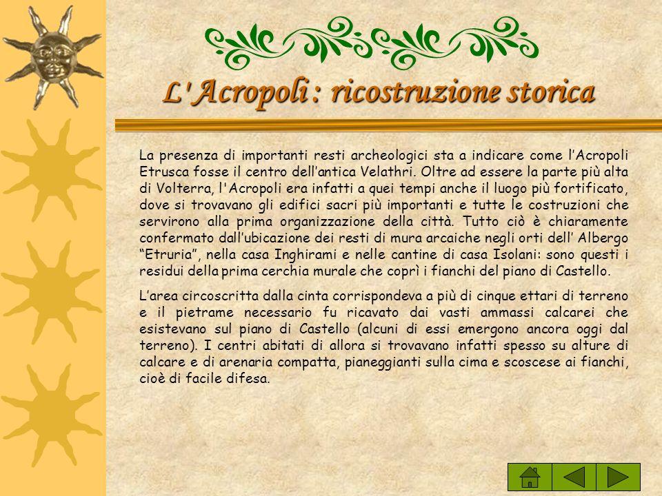 L Acropoli : ricostruzione storica