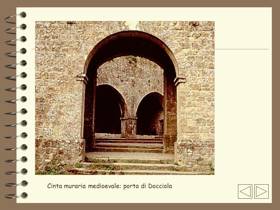 Cinta muraria medioevale: porta di Docciola