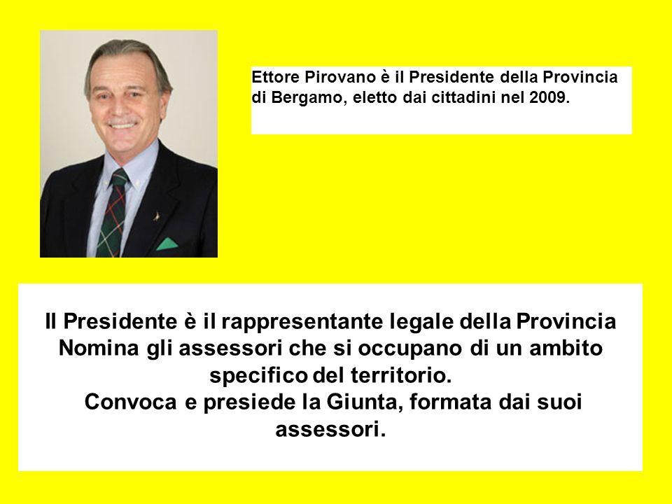 Il Presidente è il rappresentante legale della Provincia