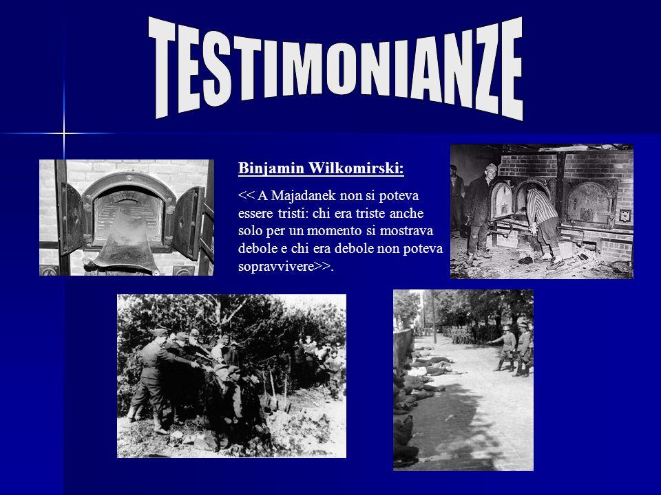 TESTIMONIANZE Binjamin Wilkomirski:
