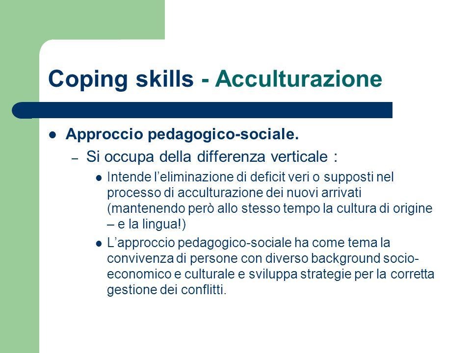 Coping skills - Acculturazione