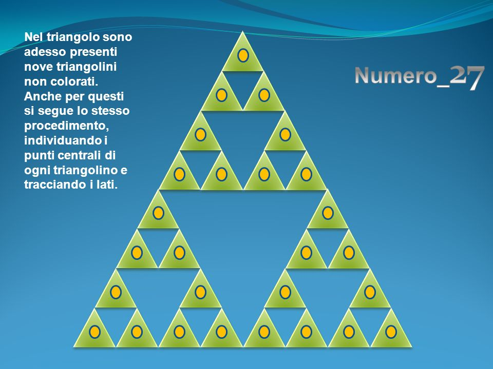 Nel triangolo sono adesso presenti nove triangolini non colorati