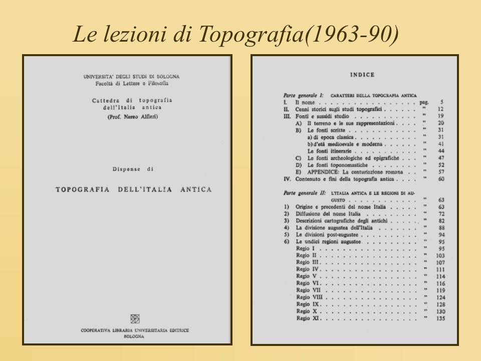 Le lezioni di Topografia(1963-90)