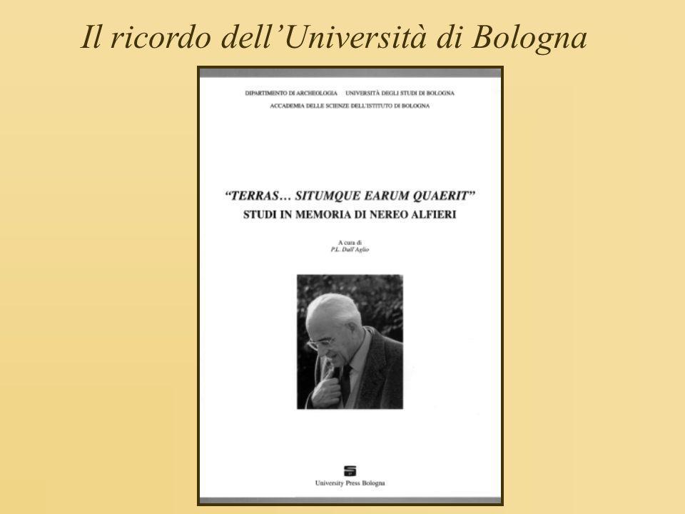 Il ricordo dell'Università di Bologna